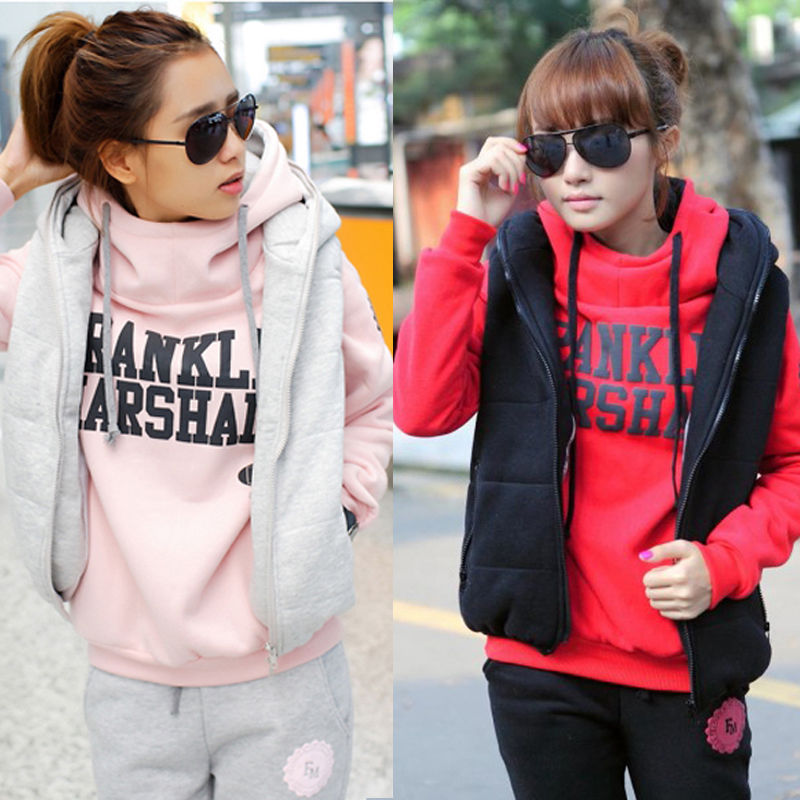 3 Pcs Set Fashion Hoodies Thickening Leisure Sports Hoodie Size M L XL | eBay