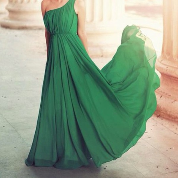 Green nature dress