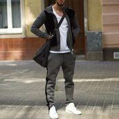 jacket,maniere de voir,tracksuit,track pant,jogging bottom,neoprene,velour,velvet,grey,casual,36683