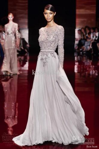 prom dress elie saab formal dress evening dress long sleeve prom dress 2014 prom dress 2015 prom dress 2015 evening gown 2015 evening dress