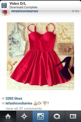 dress rer red red dress