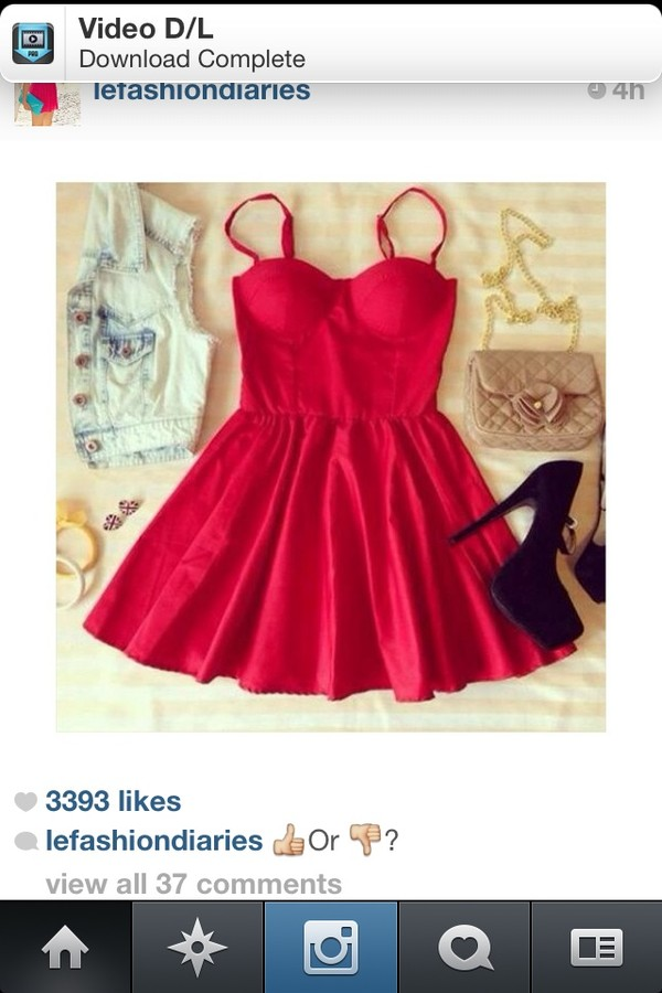 dress rer red red dress