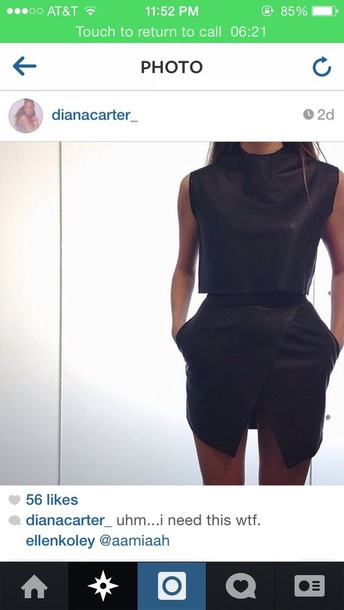 skirt black blouse leather but in white dress top pants