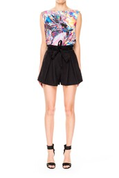 black shorts,High waisted shorts,pleated shorts,cameo the label,cameo,silk shorts,divergence clothing,back to school,places to shop for back to school,sale