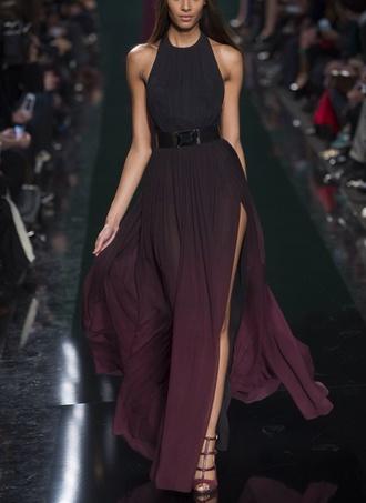 dress maxi dress ombre ombre dress black purple dress