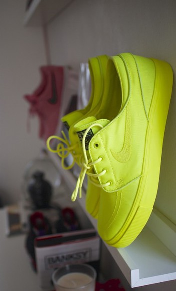 shoes neon neon shoes nike running shoes neon yellow neon green lime green shoes