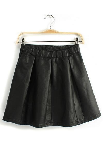 M8409 2013 Micro Speaker Leather PU Leather Skirt Leather Skirt Bust Waist A Word Skirt Tutu Skirt U on Luulla