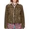 R13 - brown leopard sky trucker jacket