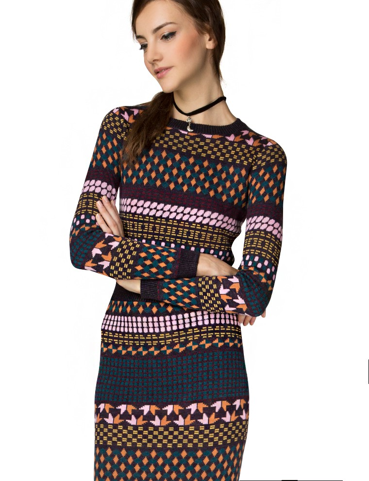 Heidi knit two piece dress set