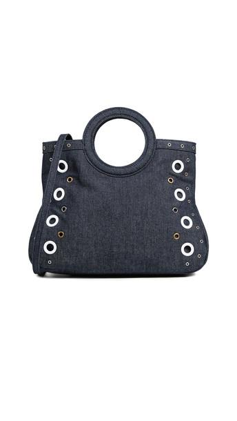 satchel denim dark bag