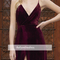 Aliexpress.com : buy sexy backless long velvet prom dresses 2017 v neck side slit evening party gowns vestido formatura from reliable dress macys suppliers on suzhou babyonline dress co.,ltd