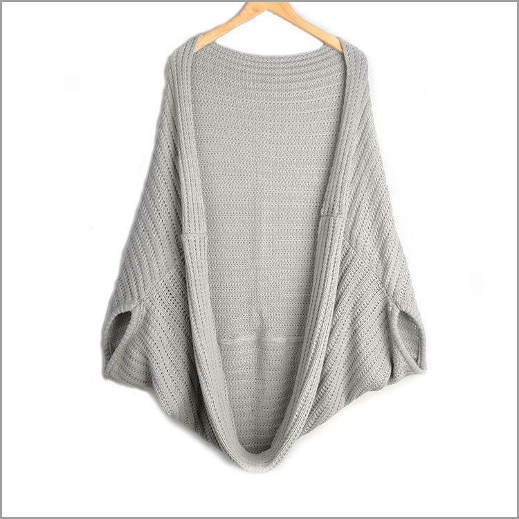 Cute ms with batwing coat irregular knitting cardigan pallium knitted sweater cardigan