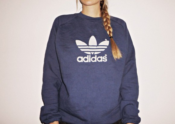 sweater logo adidas sportswear adidas sweatshirt sweater jumper womens navy