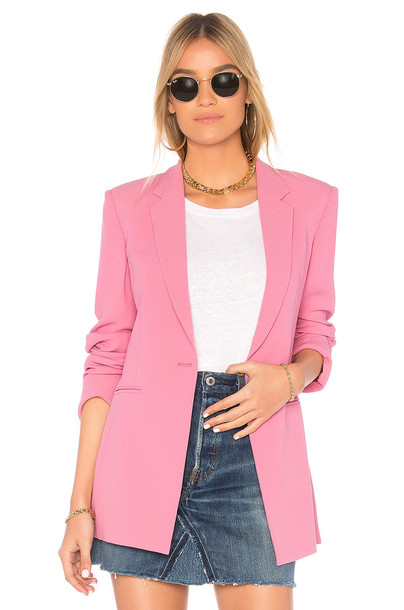 theory blazer pink jacket