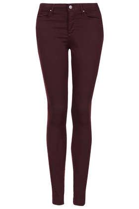 Moto aubergine leigh jeans