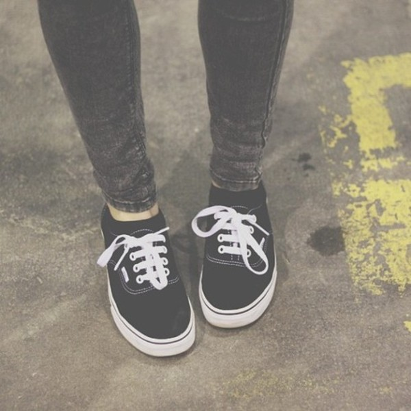 shoes vans jeans black