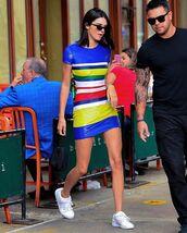 shoes,sunglasses,dress,mini dres,stripes,short dres,sneakers