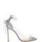 Cinderella bow mirage pump