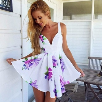 dress white dress floral dress fashion summer dress cute dress purple dress style floral asymmetric dress sleeveless dress sleeveless top white printed dress blue floral printed dresses purple beautiful cute clubwear flowers weheartit flowers skirt dream closet couture | free shipping