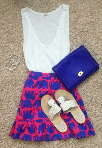 dress fashion cute cute dress all cute outfits cute outfits cute summer outfits pink royal blue elephants style