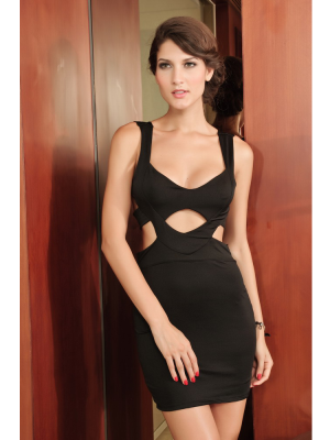 Buy Chic Black Straps Sexy Dress with 31.99-SinoAnt.com