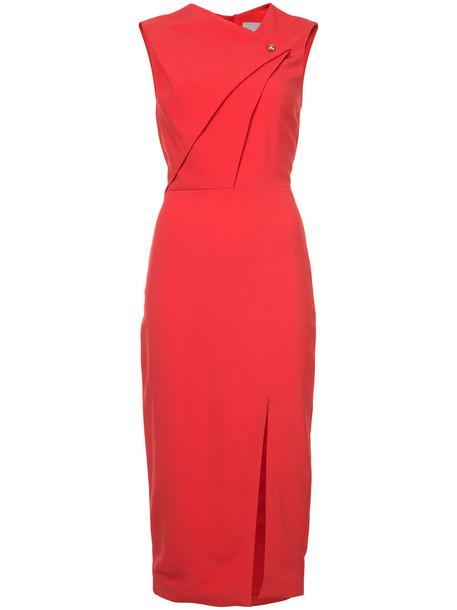 jason wu dress women spandex red