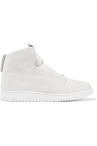 high sneakers leather white suede off-white shoes