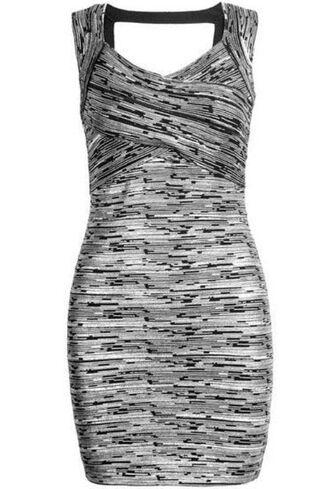 backless dress bodycon dress bandage dress silver and gray dress silver bodycon gray bodycon www.ustrendy.com