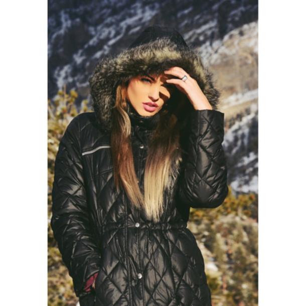 snow winter jacket winter coat quilted