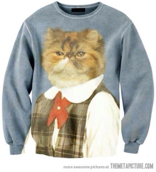 cats cat sweater funny cat printed sweatershirt tumblr funny sweaters ugly christmas sweater sweatshirt