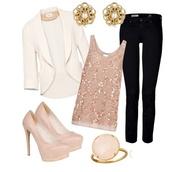 jacket,cream,blazer,sequin top,blush,shirt,jewels,coat