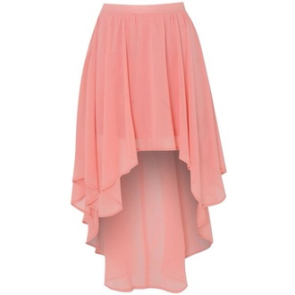 skirt light pink martina stoessel high low skirt