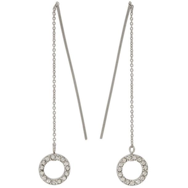 Isabel Marant Silver Long Circle Drop Earrings