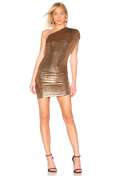 IRO Exciter Dress in gold / metallic