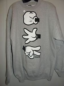 Rock Paper Scissors Mickey Mouse Gloves Crewneck Sweatshirt Disney PARODY | eBay