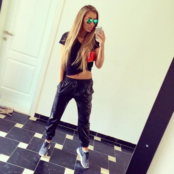 leggings russia russian girl rayban t-shirt