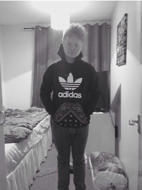 sweater adidas hoodie hoody paisley urban adi trefoil pouch pockets
