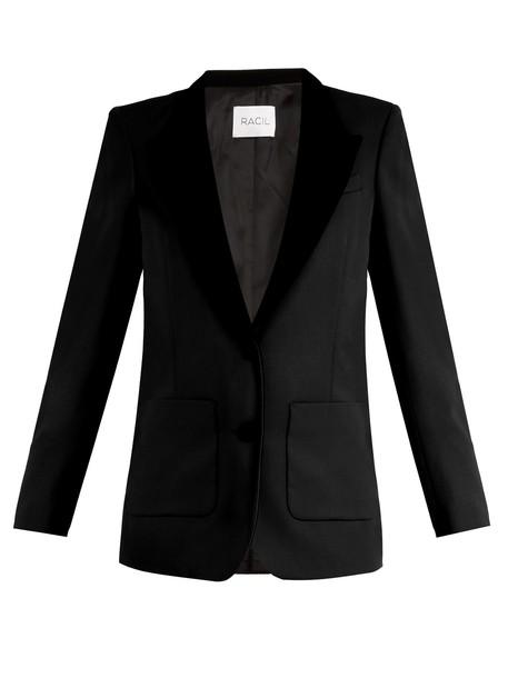 Racil blazer wool black jacket