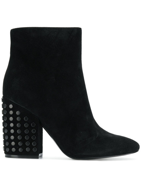 KENDALL+KYLIE studded women ankle boots suede black shoes