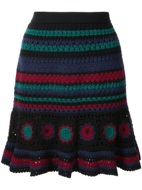 Adam Selman skirt crochet skirt women spandex wool crochet