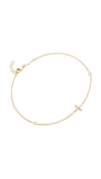cross anklet gold jewels