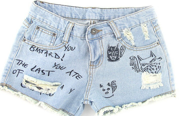 shorts denim jeans denim shorts letters summer beach date outfit girly fashion