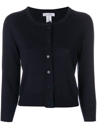 cardigan women blue silk sweater