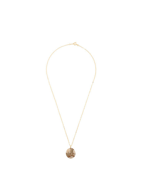 women necklace pendant gold yellow brown jewels