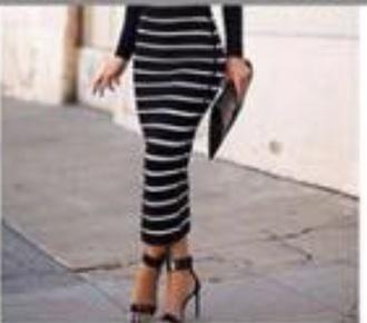 skirt black and white striped skirtt