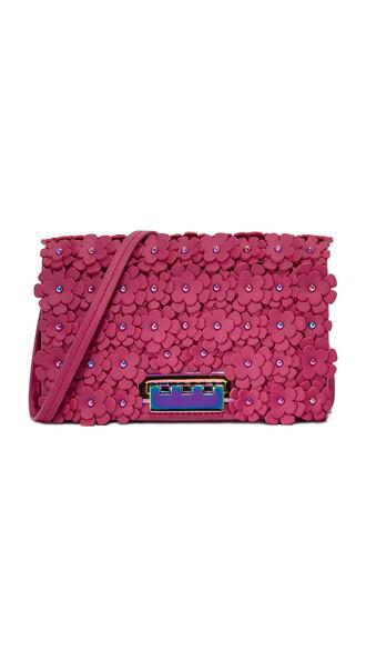 cross bag floral magenta