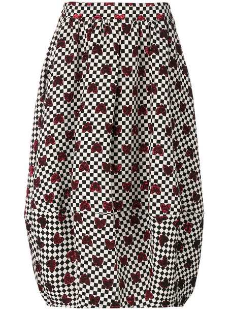 Ultràchic skirt women black checkered