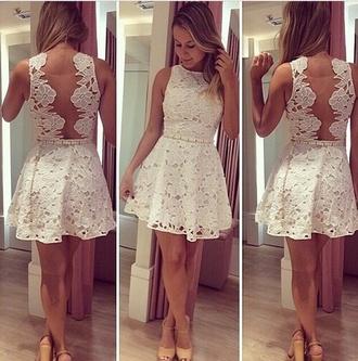 white dress crochet