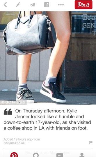 shoes kylie jenner black bag
