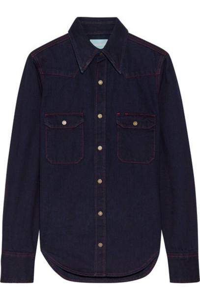 CALVIN KLEIN 205W39NYC shirt denim shirt denim dark top